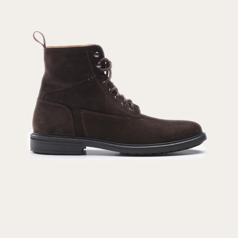 Greve Sneaker Barbour Dark Brown Velvet  5517.01