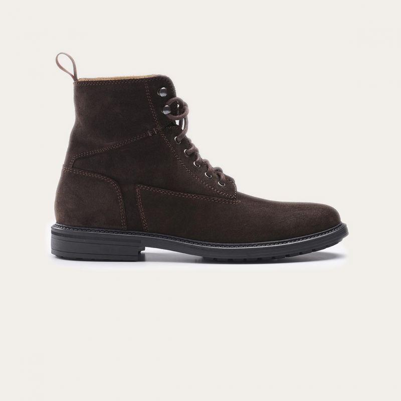 Greve Sneaker Barbour Dark Brown Velvet