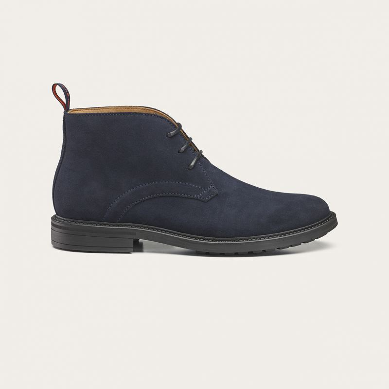 Greve Halbhoher Schnürschuh Barbour Night Blue Velvet